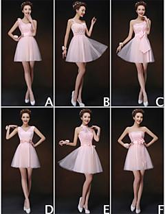 mezclar& vestidos de partido corto de mini de tul / y encaje 6 estilos vestidos de dama de honor (3227920)