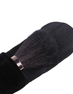 מברשת lashining המקצועית גדולה אבקה לכלי איפור יופי פנים מתנה פלנלית אחד שחורה