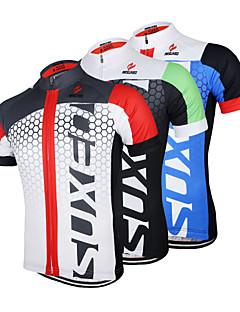 Arsuxeo Jerseu Cycling Pentru bărbați Mânecă scurtă Bicicletă Jerseu Topuri Uscare rapidă Design Anatomic Fermoar Față Respirabil100%