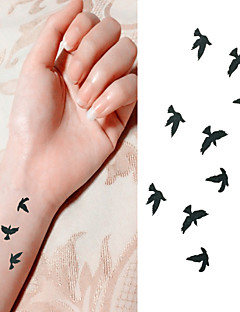 Bird Free to Fly in Sky Tattoo Stickers Temporary Tattoos(1 Pc)