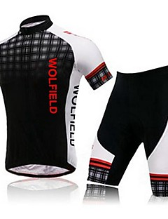 WOLFBIKE® Cycling Jersey with Shorts Women's / Men's / Unisex Short Sleeve Bike Breathable / Quick Dry / Compression / 3D PadTracksuit /