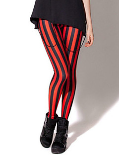 Feminino Legging Estampada Fina Poliéster/Fibra de Carbono de Bambú/Fibra de Bambú Feminino