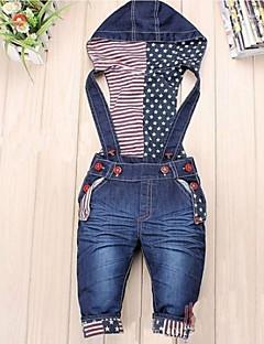 Mädchen Jeans einfarbig Jeans Denim Ganzjährig Blau
