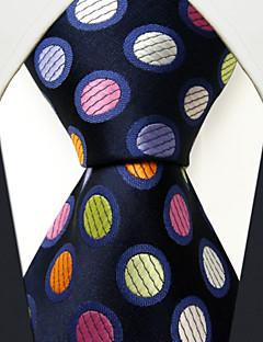 Masculino Gravata Azul,Vintage Fofo Festa Trabalho Casual Poás Seda Todas as Estações