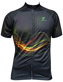 JESOCYCLING Jerseu Cycling Pentru femei Pentru bărbați Mânecă scurtă Bicicletă Jerseu TopuriUscare rapidă Rezistent la Ultraviolete