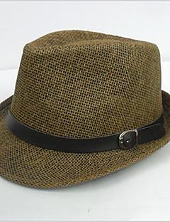 Men Casual Summer Straw Fedora Hat