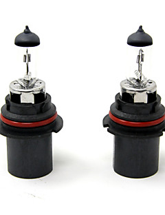 TIROL 2pcs Auto Headlight Bulbs Headlamp Bulbs Halogen 9007 12V 60/55W Super White 3000K
