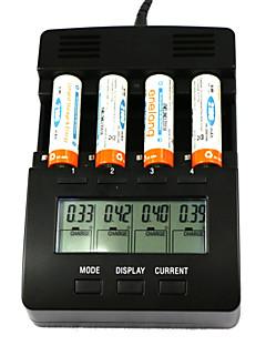 "ft2000 4-slot 2.9 ""lcd-skærm multifunktions Smart digital batterioplader til Ni-MH-/ NiCd / aa / aaa"