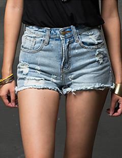 naisten Bodycon / casual joustamatonta mini housut (denim)