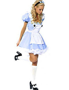 Cosplay Costumes Party Costume Princess Fairytale Festival/Holiday Halloween Costumes Blue/White Dress Headpiece Halloween Carnival Female
