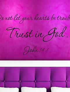 quote væg decals tillid er gud aftagelig udlejning citat vinyl wall stickers home decor zy8198