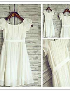 Blumenmädchen Kleid A-Linie - Juwel-Ausschnitt - wadenlang ( Chiffon )