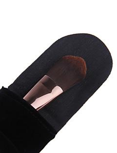 מברשת בסיס המקצועית lashining מתנת כלי איפור רך סיבי אנטיבקטריאלי אנטי-אלרגי פלנלית אחד שחורה