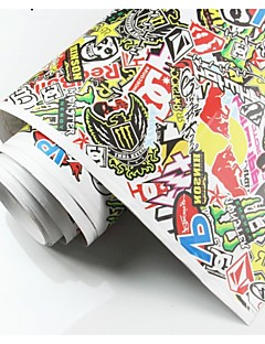 Hot Sale 150cmx100cm  Personalized Graffiti Stickers Sticker Bomb Vinyl Car sticks