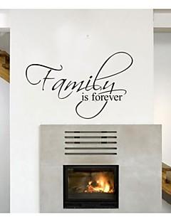 familie er evigt home decor citat væg decals zooyoo8068 dekorative flytbare vinyl wall stickers