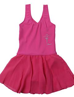 Ballet Dresses Children's Performance Chiffon / Chinlon Draped 1 Piece Black / Blue / Fuchsia / Pink / Purple / White