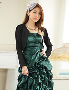 matrimonio avvolge lungo moda poliestere manica bowknot elegante bolero bianco / nero bolero scrollata di spalle