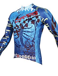 PALADIN® Cykeltrøje Herre Langt Ærme CykelÅndbart Hurtigtørrende Ultraviolet Resistent Komprimering letvægtsmateriale Tilbage til lomme