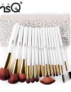 msq® 15pcs fibres maquillage blanc ensembles de brosses