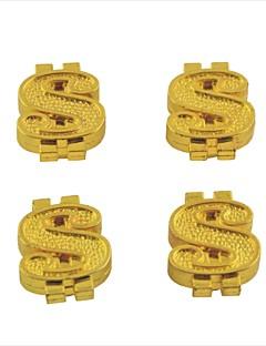 자동차 자동차 달러 모양의 타이어 밸브 줄기 캡 커버 (4 개)