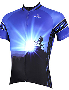 ILPALADINO Cycling Jersey Men's Short Sleeve Bike Jersey TopsQuick Dry Ultraviolet Resistant Breathable Compression Lightweight Materials