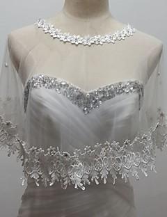 Wraps Wedding - Senza maniche - di Tulle/Paillettes - Bianco