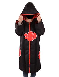 Inspired by Naruto Akatsuki Anime Cosplay Costumes Cosplay Tops/Bottoms Print Black Long Sleeve Cloak