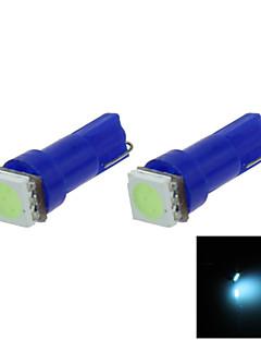 2X  Ice Blue T5 1 5050 LED Dashboard Licence  Plate Speed  Wedge Light Vehicle Car Blub D12V B001