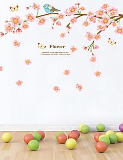 Wandaufkleber Wandtattoos Stil schöne Pfirsichblüte PVC-Wandaufkleber