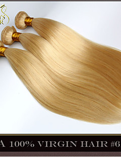 "3Pcs Lot 14-30"" Platinum Bleach Blonde Malaysian Virgin Hair Straight Color 613 Remy Human Hair Extensions Weave Bundles"