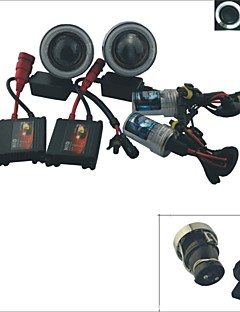 Carking™ H3 HID 35W 6000K 2600ML Car Projector Fog Lamps Kit with White/Blue Light CCFL Angel Eyes