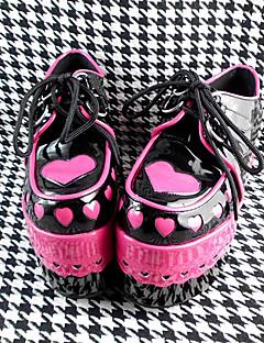 håndlaget rød 12cm høy hæl søt Lolita sko
