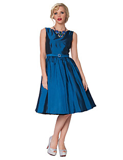 Party Dress Knee-length Swing Evening Taffeta Dress