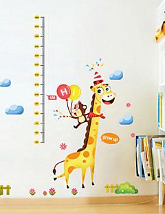 stickers muraux stickers muraux, autocollant bande dessinée de Noël de mur de PVC de girafe