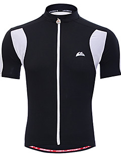VEOBIKE® Cycling Jersey Men's Short Sleeve BikeBreathable / Quick Dry / Moisture Permeability / Front Zipper / High Breathability