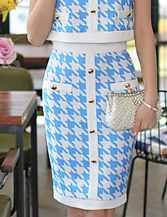 DABUWAWA Women's Bodycon/Print/Work Skirts (Elastic/Polyester)