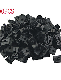 k049 100 pcs bil auto plast 5mm hul plug befæstelser hætte prop stang support klip