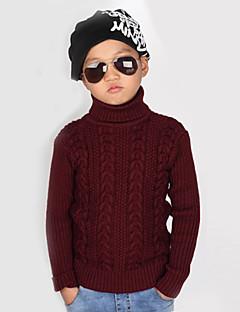 Boy's Cotton/Knitwear Leisure Thick High Collar Long Sleeve Sweater & Cardigan