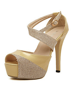 Women's Shoes Stiletto Heel Heels Sandals Wedding/Party & Evening Black/Gold