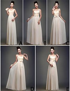 mix& match kjoler gulvlang chiffon og blonder 5 stilarter brudepige kjoler (3.789.821)