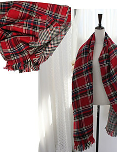 Winter And Autumn And Winter Thick Imitation Cashmere Double Lattice Scarf