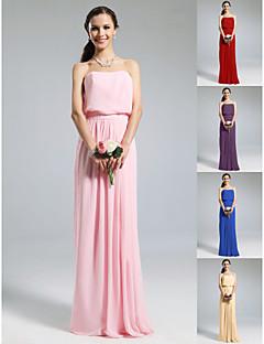 BEDELIA - Kleid für Brautjungfer aus Chiffon und Elastisch gewebte Seide