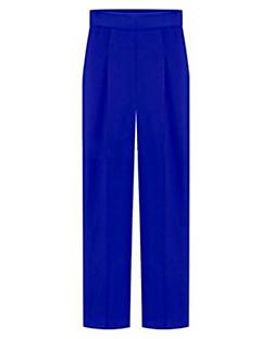 Mulheres Calças Casual/Plus Sizes Reta Poliéster Micro-Elástica Mulheres