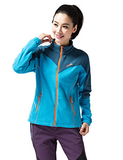 Cycling Jacket Women's Long Sleeve BikeBreathable / Thermal / Warm / Windproof / Fleece Lining / Insulated / Front Zipper / Dust Proof /