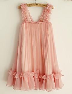 Sheath / Column Knee-length Flower Girl Dress - Chiffon Sleeveless Straps with