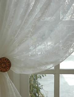 Două Panouri Tratamentul fereastră Țara Modern Neoclasic Rococo Baroc European Designer  Dormitor Amestec poli/bumbac MaterialSheer