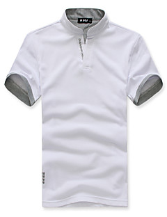 Men's Short Sleeve Polo , Cotton Blend/Polyester Casual/Work Pure
