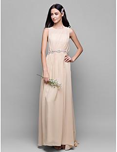 LAN TING BRIDE Na zem Kopeček Šaty pro družičky - Elegantní Bez rukávů Šifón