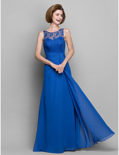 Sheath/Column Mother of the Bride Dress - Royal Blue Floor-length Sleeveless Chiffon