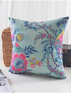 fleurs de printemps modèle coton / lin taie d'oreiller décoratif